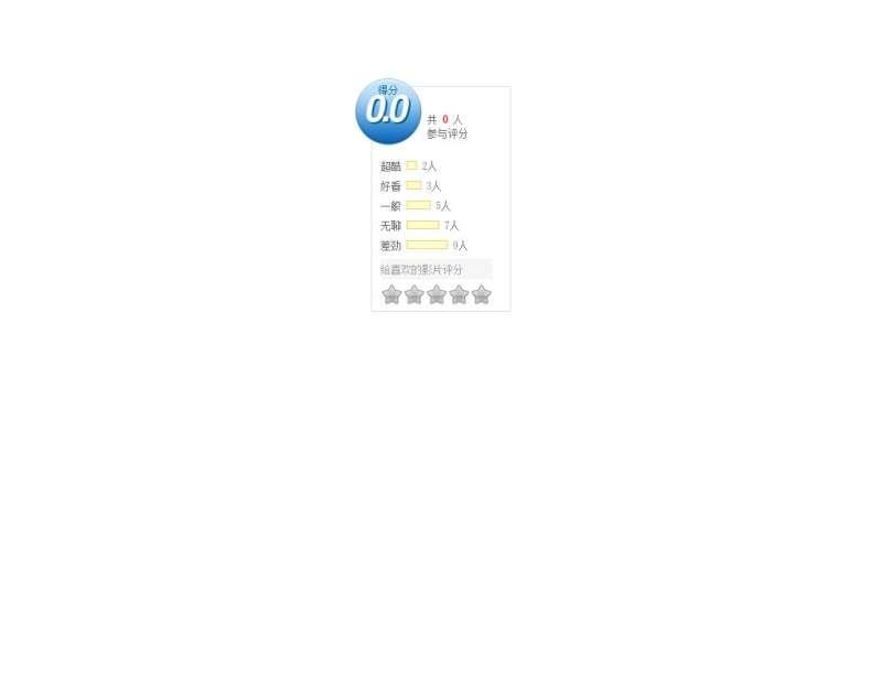 jquery星级评分特效制作电影视频网站滑动星星打分效果
