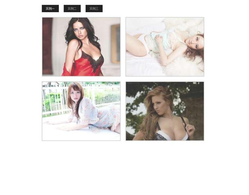 jQuery圖片插件性感美女圖片鼠標懸浮滑動顯示全圖美女