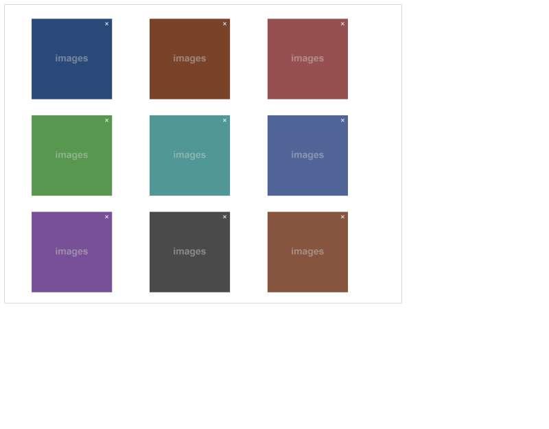 jQuery网格布局图片拖到排序效果