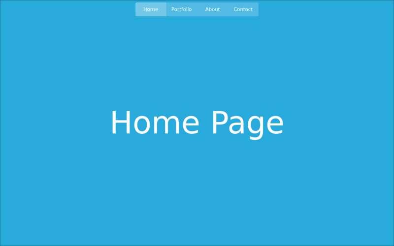 jQuery css3点击导航全屏翻转动画切换