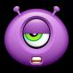 可爱的怪兽表情包_紫色的qq表情小怪兽png图片下载