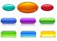 光滑的水晶按钮_立体的水晶按钮_彩色的水晶按钮AI矢量图下载