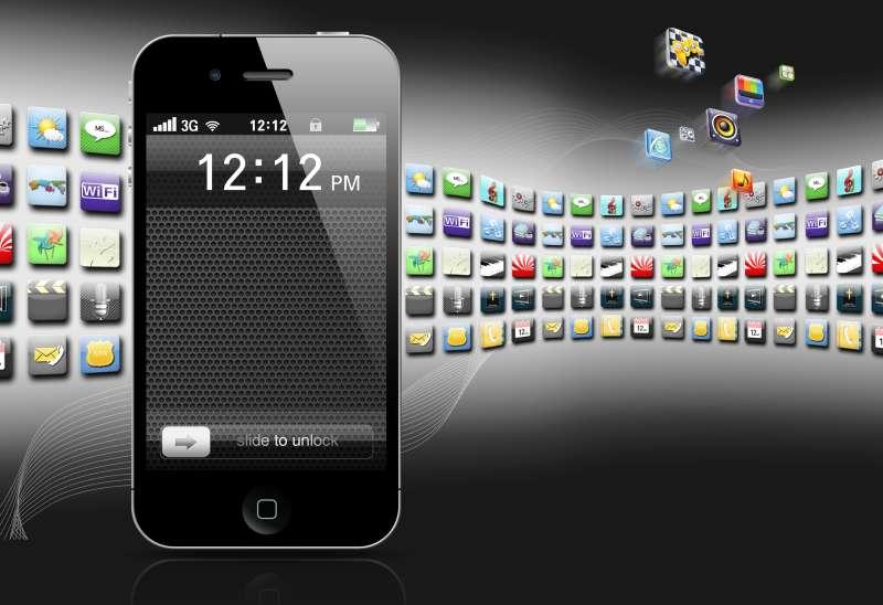 iphone手机界面图标banner设计psd分层素材下载