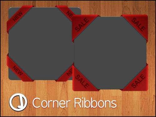 包边色带和包角色带的相框模板PSD素材