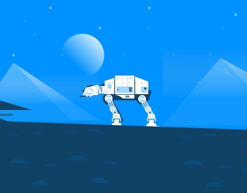 纯css3绘制星球大战场景动画特效