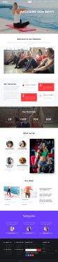 大气的女性瑜伽健身网站模板