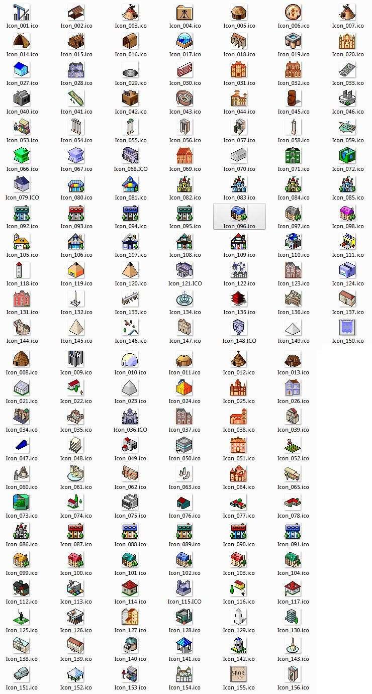225个32x32网页点像素图标素材_ico图标下载