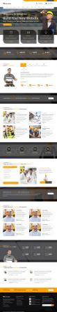 橙色宽屏的建筑工业行业网站模板
