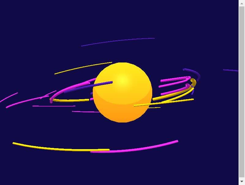 html5 canvas绕着月球动画特效