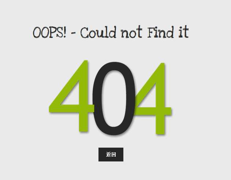 简单的404 not found页面模板下载