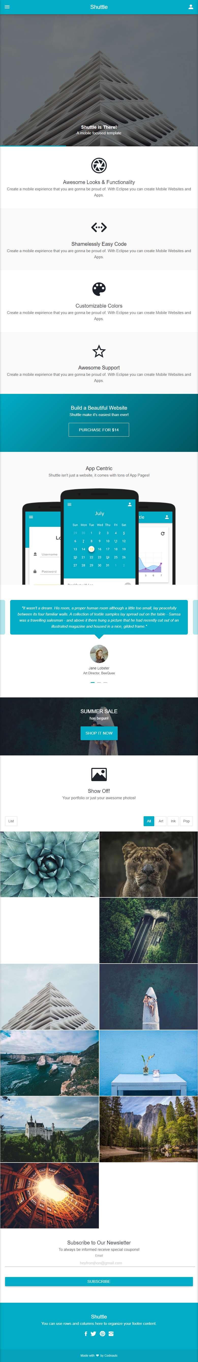 通用的企业博客手机网站ui框架模板