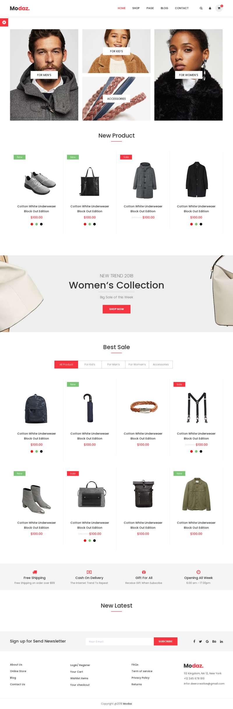 大气的鞋服箱包品牌商城网站html5模板
