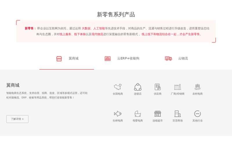 jQuery新零售产品系列滑动选项卡布局代码