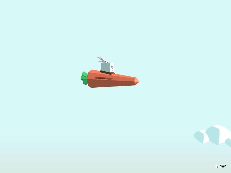 html5 3D飞行兔子萝卜小游戏代码