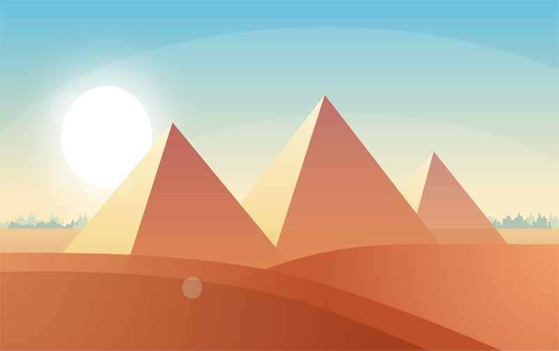 html5 svg沙漠里日出动画场景特效