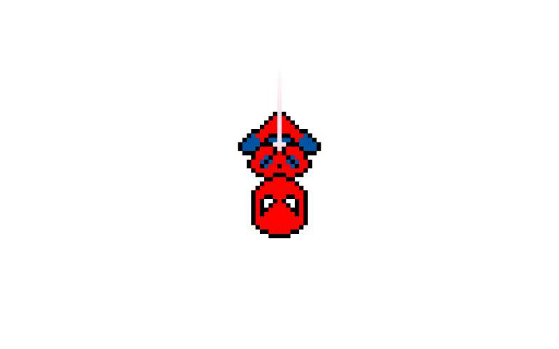 css3倒掛的蜘蛛俠圖形特效