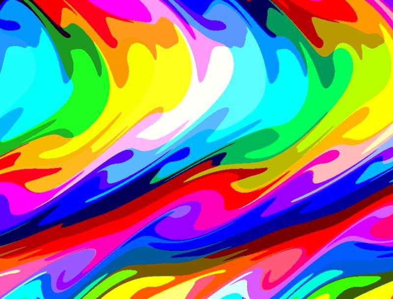 彩色液体流动背景特效