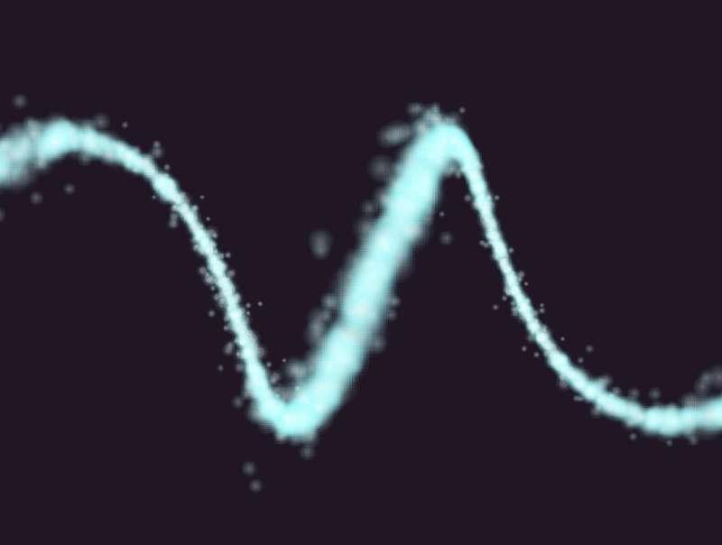 3D粒子螺旋线条动效