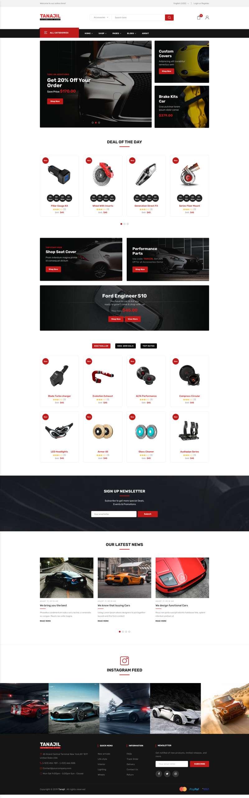 汽车装饰零件商店网站模板