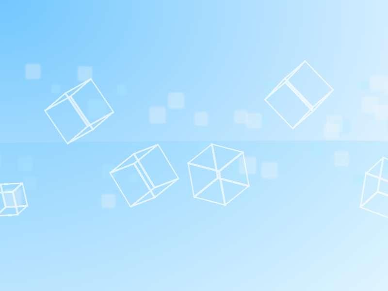 蓝色透明的方块背景动画特效