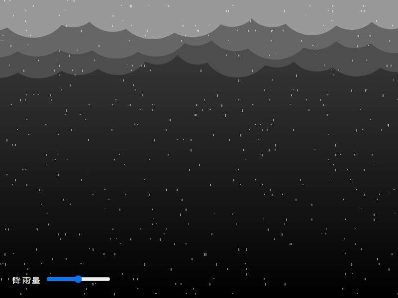 下雨天乌云密布canvas动效