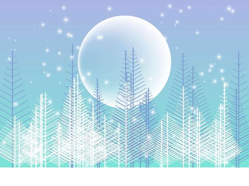 卡通冬季下雪天场景特效