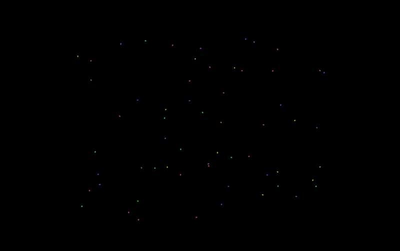 彩色线条游走H5动画特效