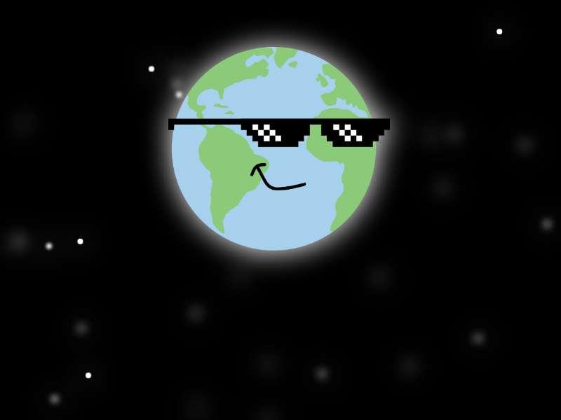星空地球日主题页面ui特效