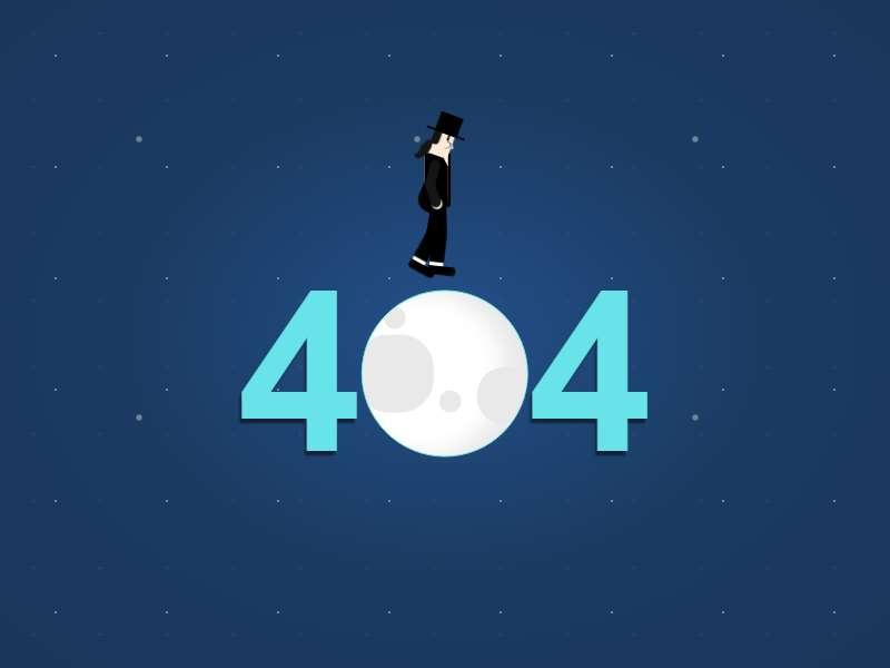 月球漫步404文字动画特效