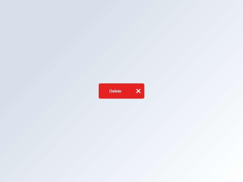 红色的删除按钮ui交互特效