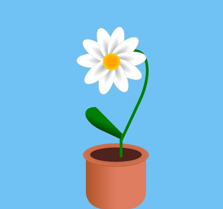 盆里盛开的花朵ui特效