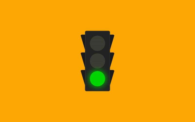 红黄绿交通信号灯动画特效