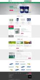 綠色的硅膠生產企業網站首頁模板psd下載