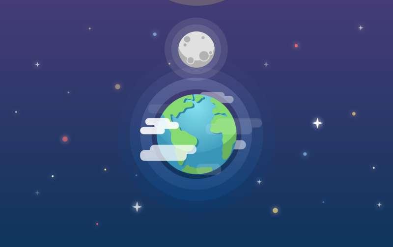 html5 svg地球白天和夜晚切换特效
