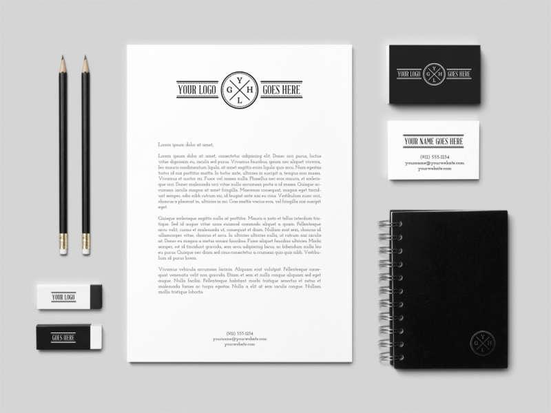 简单漂亮的橡皮铅笔记事本等书桌文具用品psd素材下载
