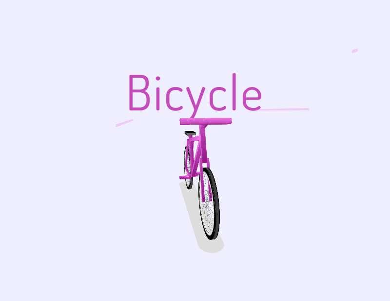 css3 3D自行车动画特效