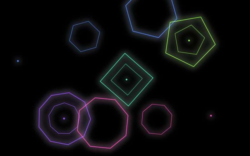 纯css3发光多边形动画特效