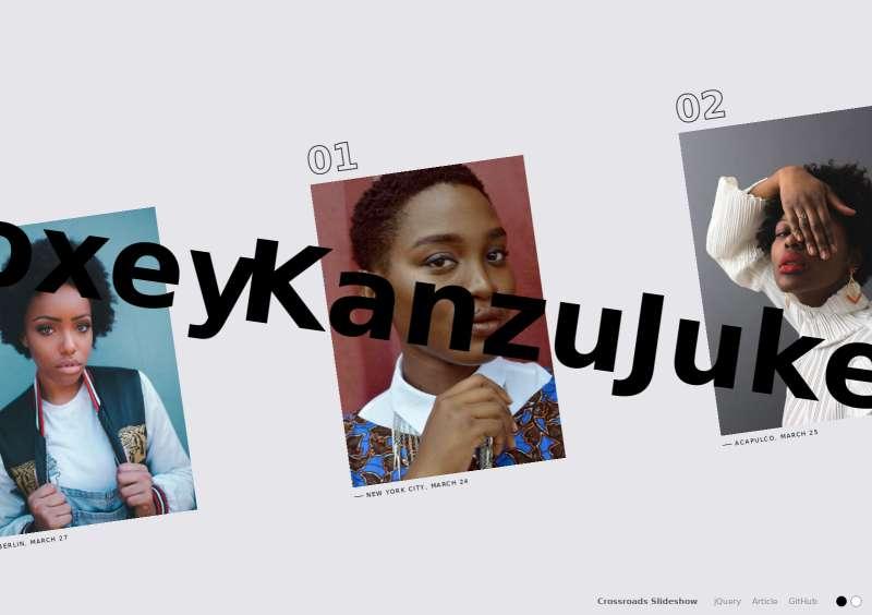 html5全屏倾斜图片幻灯片特效