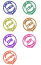 創意的商城訂單狀態水墨圖標素材
