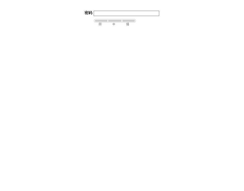 jquery密码强度检测_密码强度验证_密码强度正则表达式代码