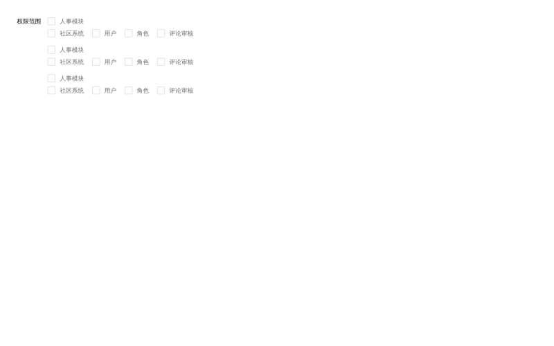 layui checkbox權限范圍單選全選取消