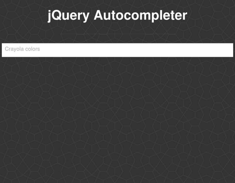 jquery autocomplete类似百度搜索框自动提示插件