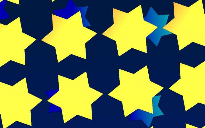 星星变形旋转canvas动画