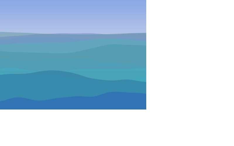 蓝天的海水波浪canvas动画