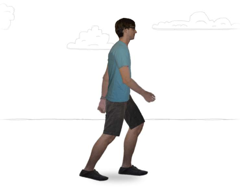 纯CSS3制作3D人物走路动画特效