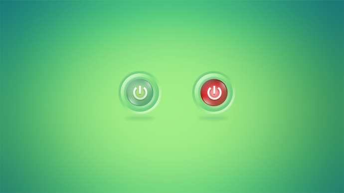 可爱圆形的电源开关按钮psd素材下载