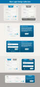漂亮的蓝色登录框ui界面设计psd素材下载