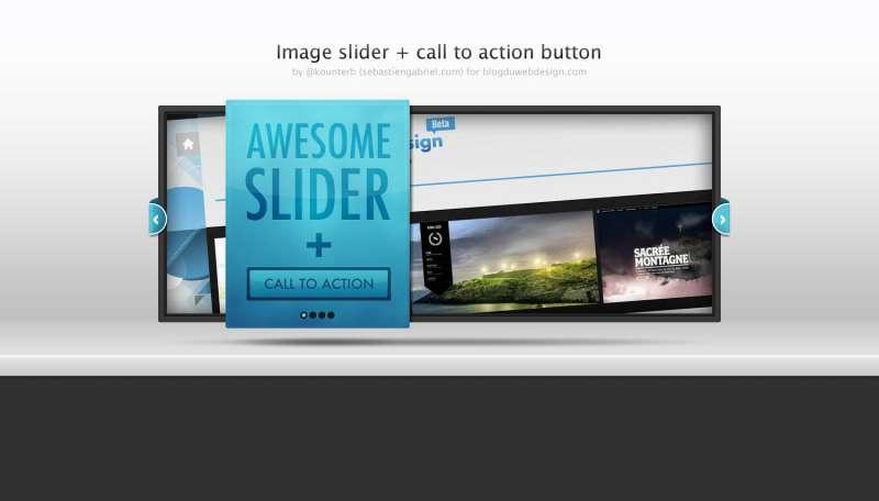 带按钮的图像幻灯片ui界面设计素材下载