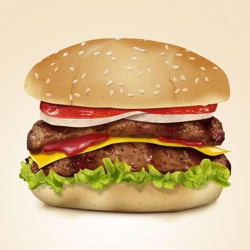 逼真的汉堡包图片ui设计_汉堡包图片psd分层素材下载