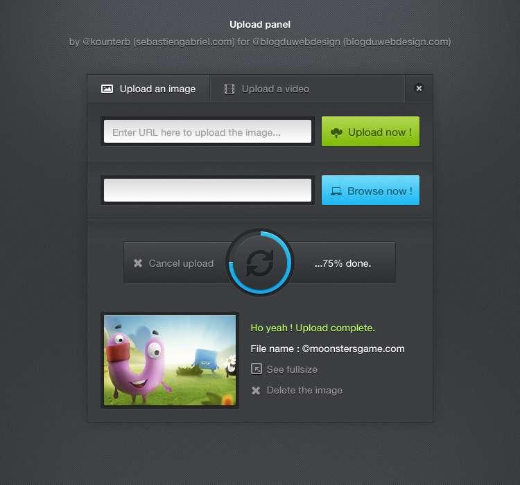 网页上传面板ui界面设计_图片上传和上传视频页面ui设计